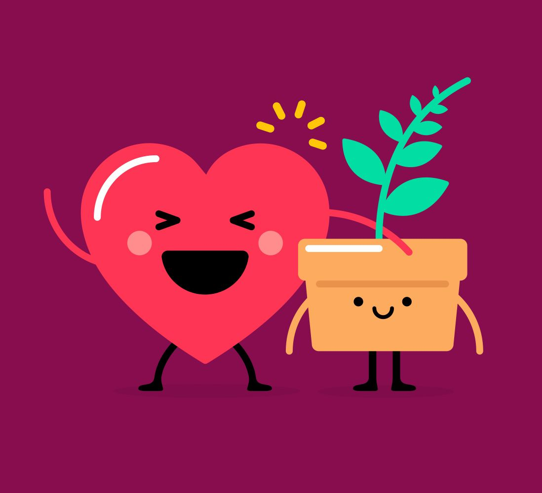 Impossible Buddies Heart + Plant