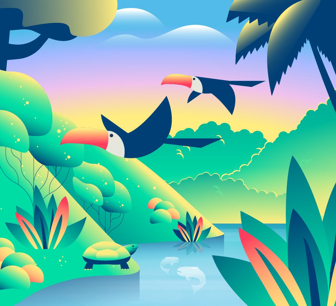 Sustainability Illustration Toucan 1098x1000