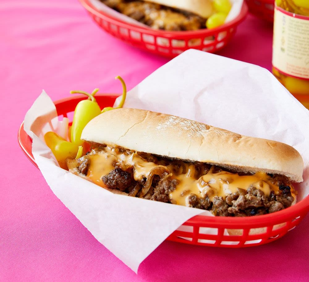 Try this Impossible™ Cheesesteak made with Impossible™ Burger.