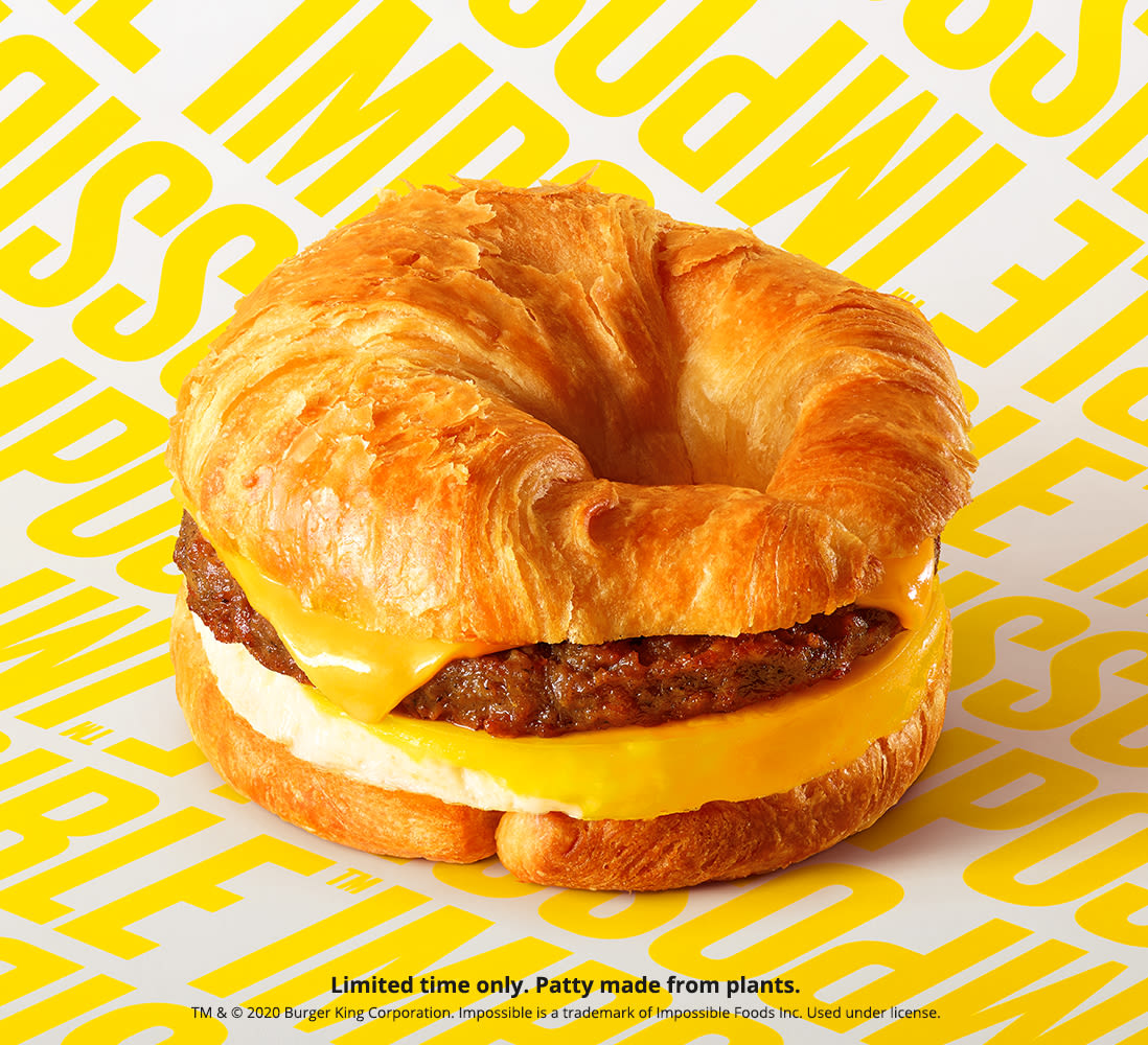 Burger King Impossible Sausage Croissan'wich