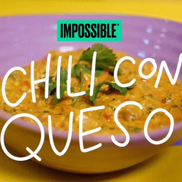 Cook up this creamy Impossible™ Chili Con Queso recipe made with Impossible™ Burger
