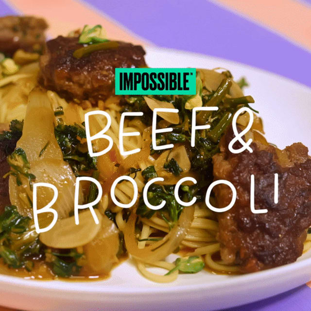 Cook up this easy Impossible Beef and Broccoli recipe made with Impossible Burger