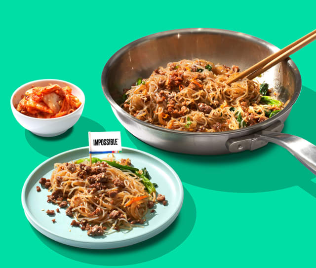 Try This Impossible™ Japchae Recipe made with Impossible™ Burger