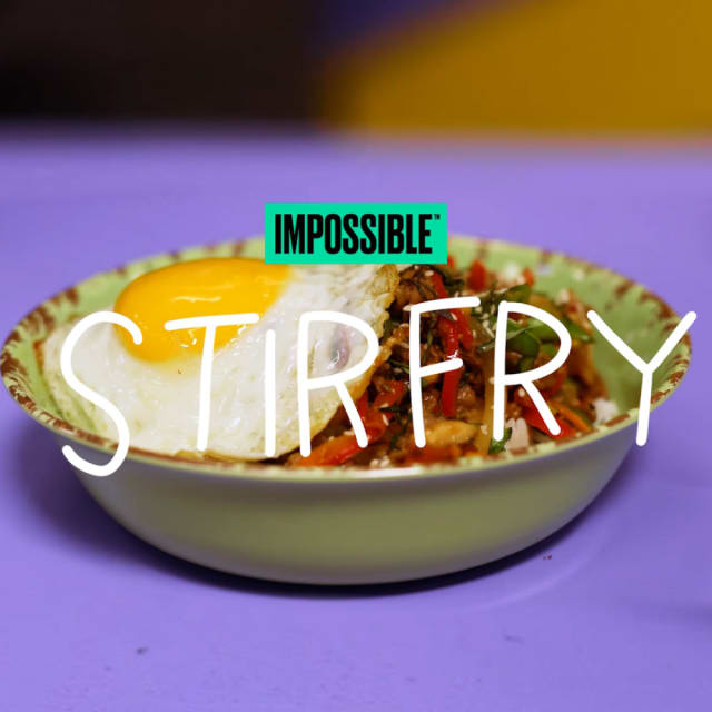 Cook up this easy Impossible Stir Fry made with Impossible Burger