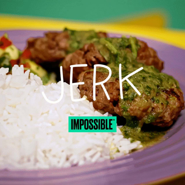 Cook up this tangy Impossible foods Jerk recipe made with Impossible Burger