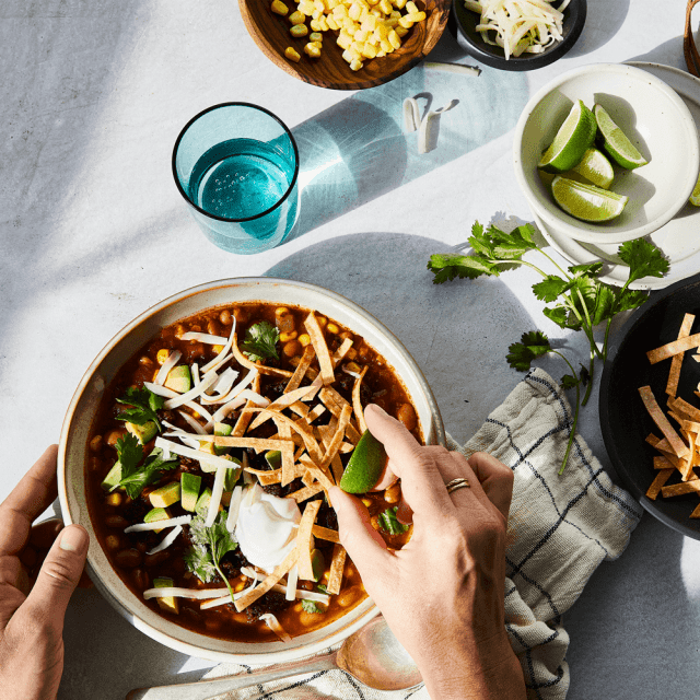 Try this Impossible™ Tortilla Soup Recipe made with Impossible™ Burger.