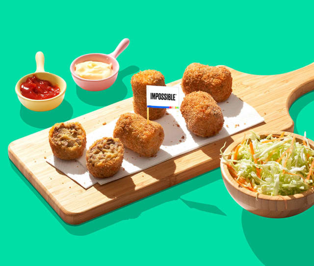Impossible™ Japanese Potato Croquettes Recipe made with Impossible™ Burger.
