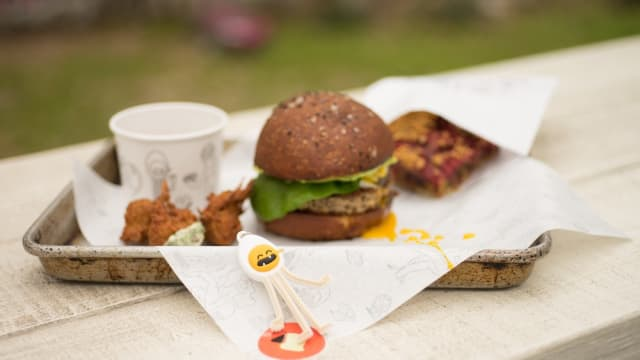 Ground Hamburger Recipes Breakfast Club Impossible Burger on tray