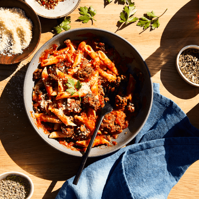 Impossible Foods Penne Arrabiata Recipe made with Impossible Burger Easy Ground Beef Recipes with Few Ingredients