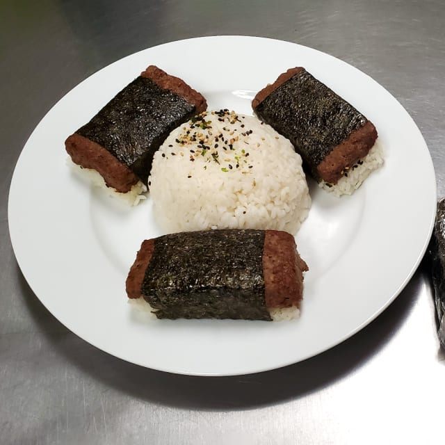 Try this  Impossible™ Musubi Recipe, featuring meat made from plants with ginger, garlic, and oyster sauce, and wrapped in nori.