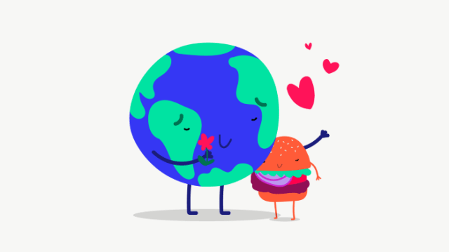 Impossible Burger and the Earth hugging