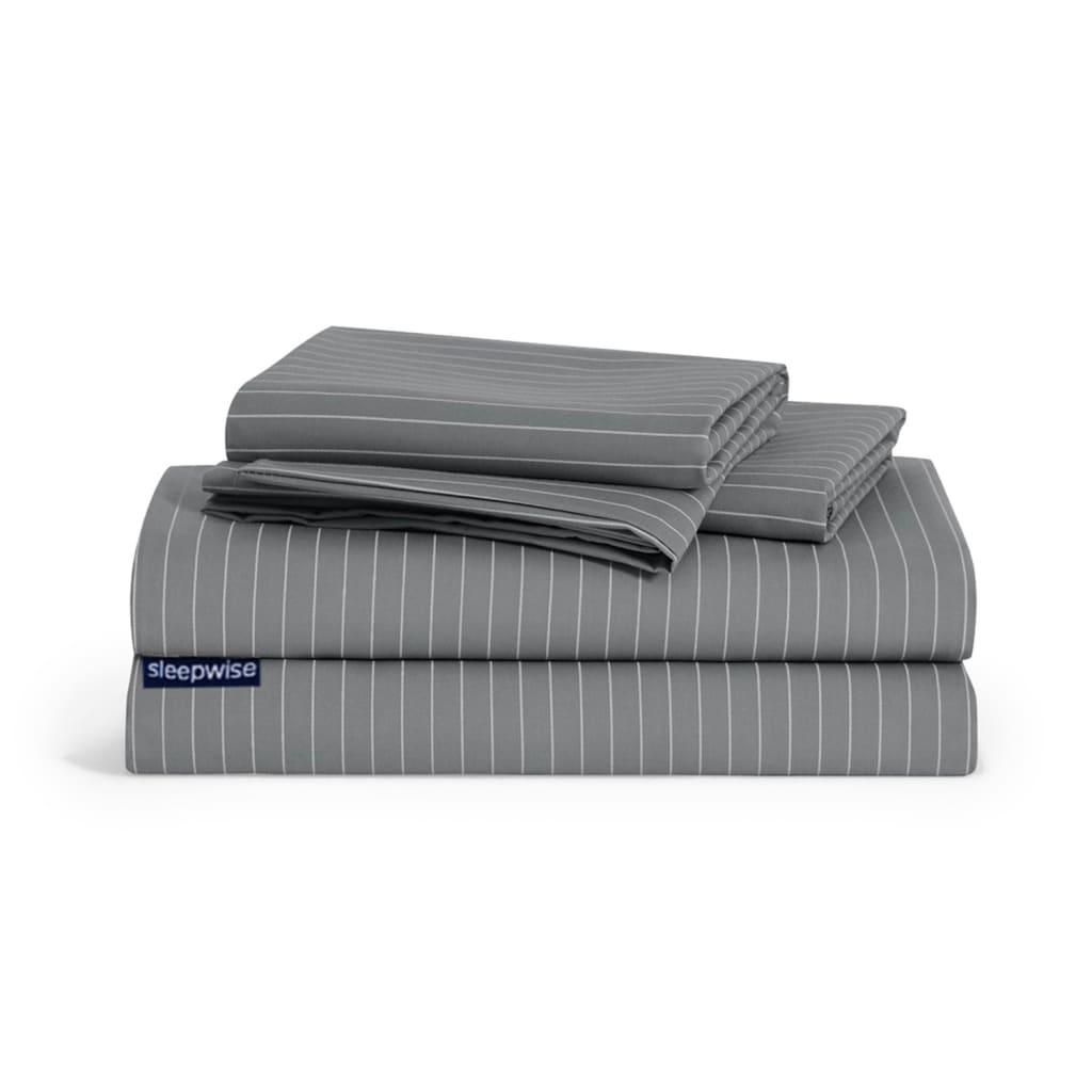 Soft Wonder-Edition Bettwäsche, Grau / Weiß gestreift
