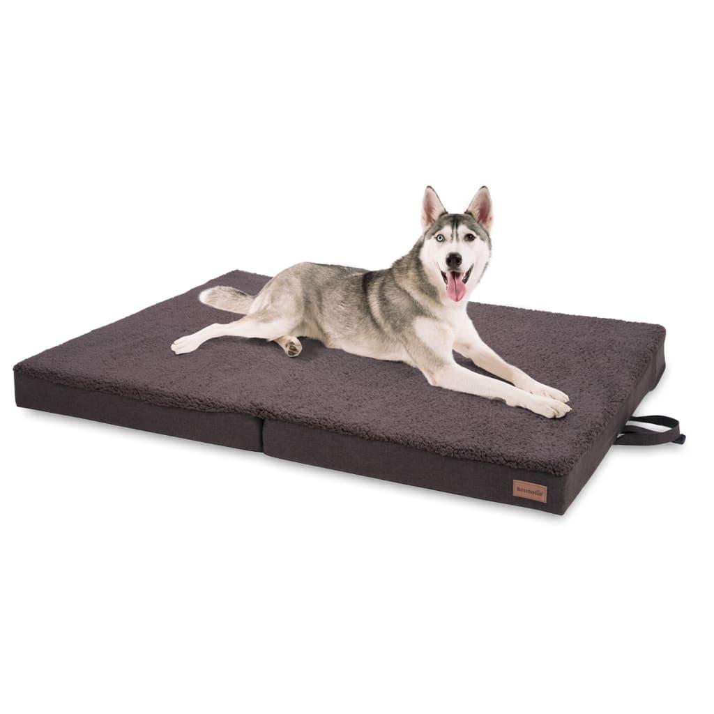 Paco Hundebett Hundematte, Dunkelbraun, Größe: XL