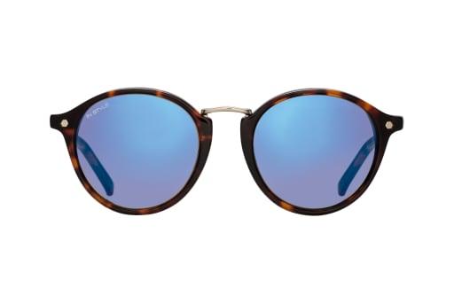 Verspiegelte Sonnenbrillen Mit Bunten Glasern Und Uv Schutz