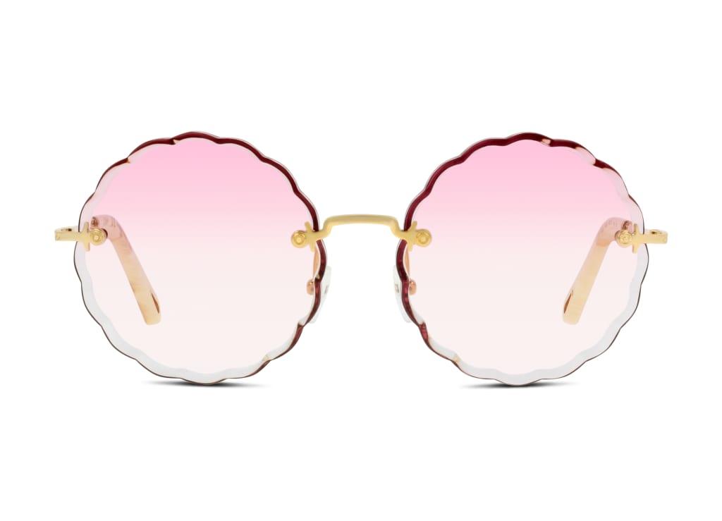 0886895349543-front-chloe-sonnenbrille-ce142s-eyewear-gold-gradient-rose