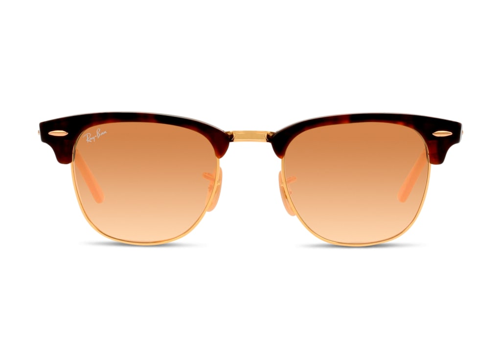8053672603897-front-sonnenbrille-ray-ban-0rb3016-clubmaster-shiny-red-havana