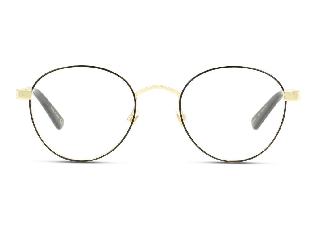 8056376156287-front-brillenfassung-gucci-gg0290o-black-gold-transparent