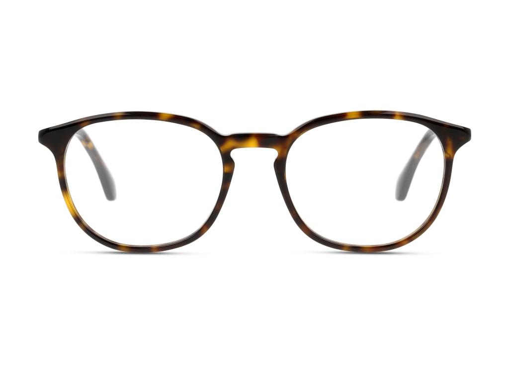 8056376286298-front-brillenfassung-gucci-gg0551o-havana-havana-transparent