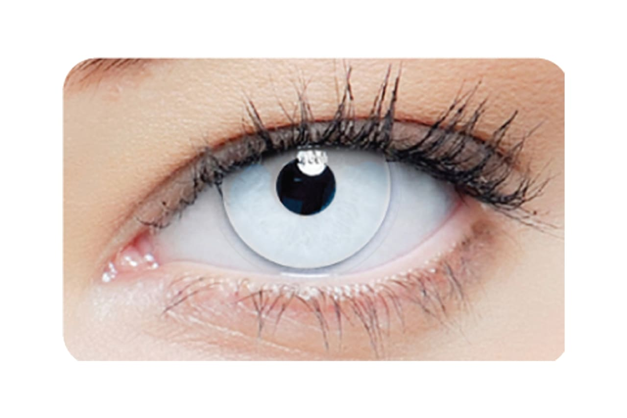 Farbige Kontaktlinsen 1-DAY White Out 2