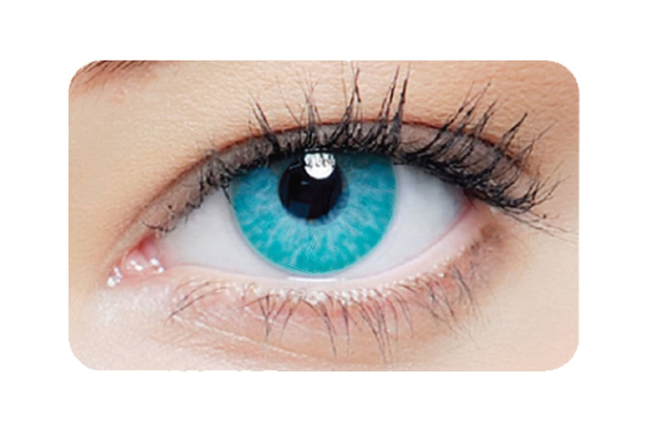 Farbige Kontaktlinsen 1-DAY Blue Walker