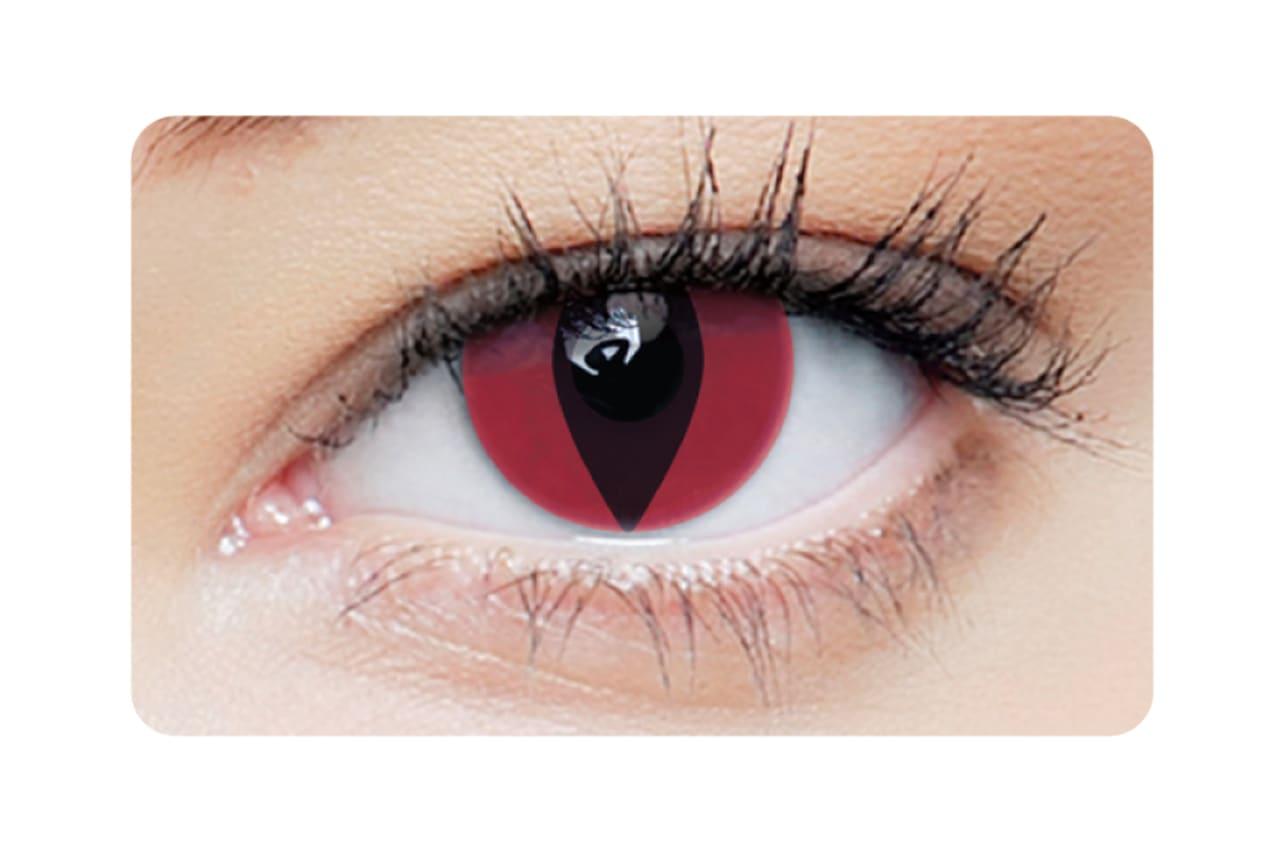 Farbige Kontaktlinsen Red Cat 2 Stück