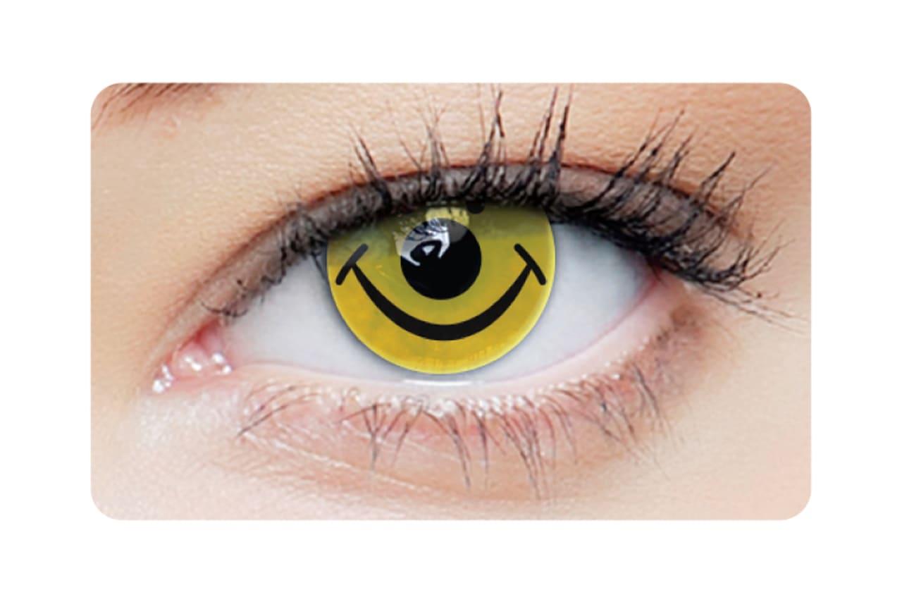 Farbige Kontaktlinsen Smiley 2 Stück