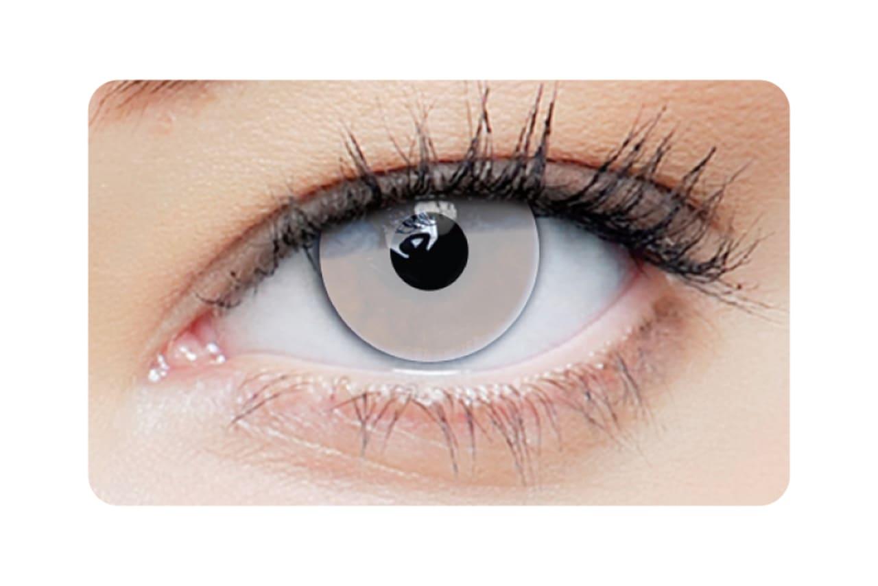 Farbige Kontaktlinsen White Out 2 Stück