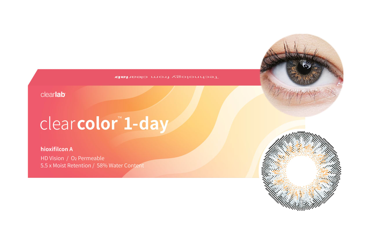 Clearcolor™ 1-Day - Gray 10 Stück