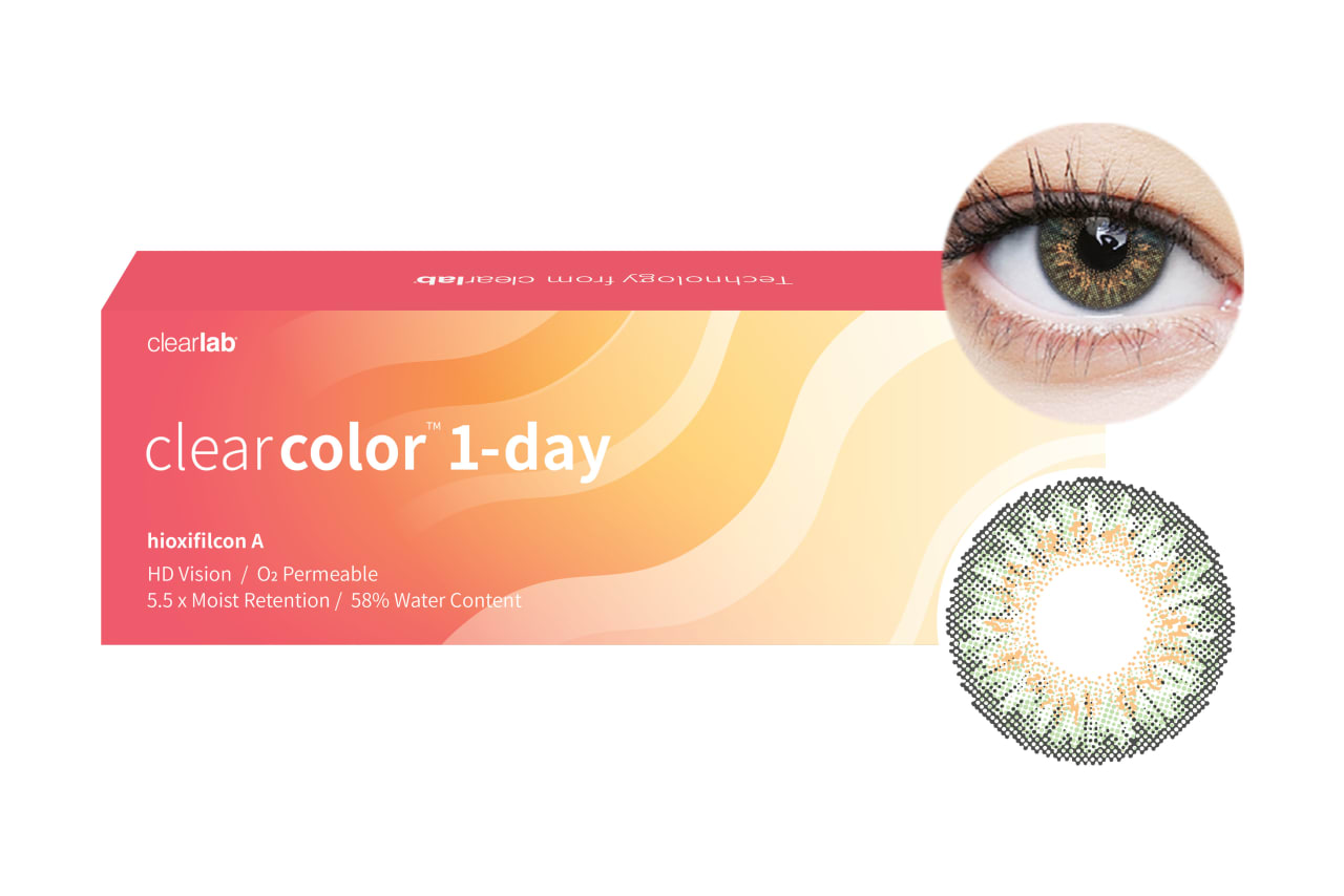 Clearcolor™ 1-Day - Green 10 Stück