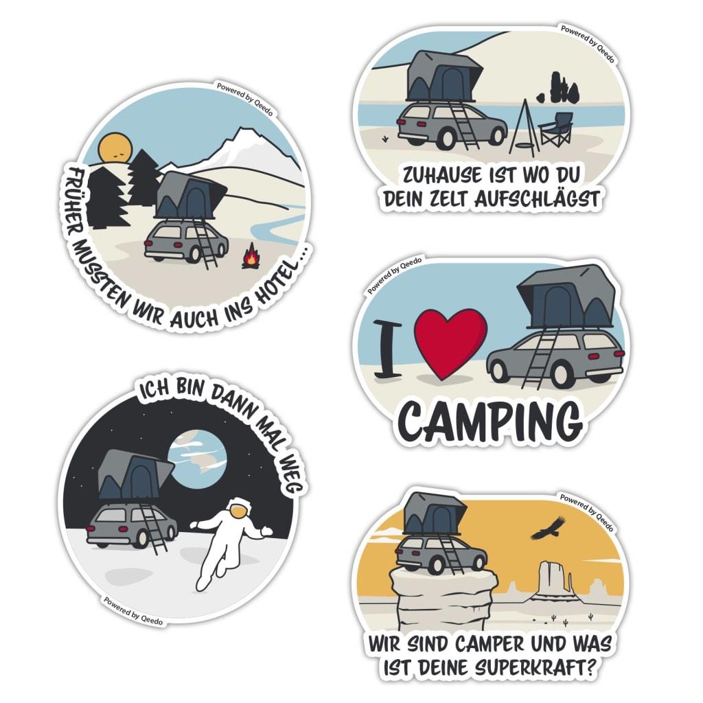Camping Sticker Set