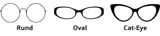 Brillenformen Herz