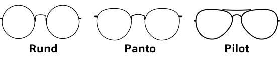Brillenformen Eckig