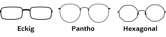 Brillenformen Oval