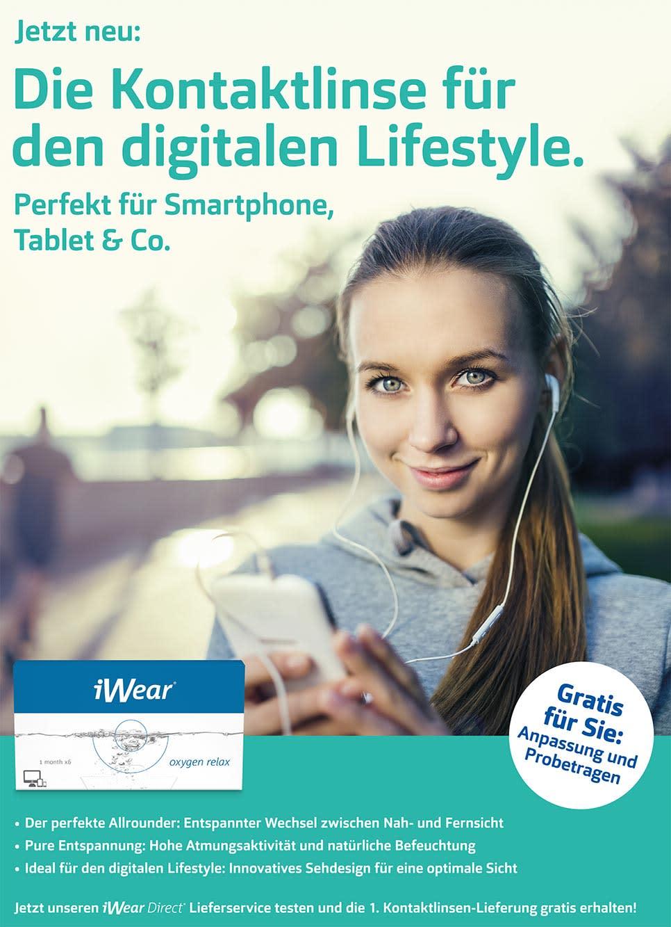 iWear Oxygen Relax: Die Kontaktlinse für den digitalen Lifestyle