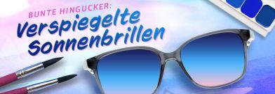 große sorten Großbritannien heißes Produkt Verspiegelte Sonnenbrillen mit bunten Effekten in Sehstärke ...