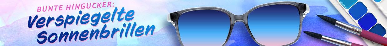 Bunte Hingucker: Verspiegelte Sonnenbrillen