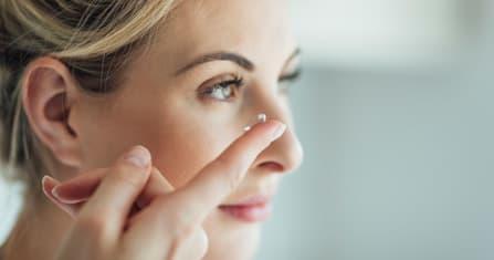 Kontaktlinsen und trockene Augen
