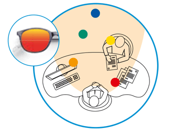 AO LP-Bildschirmplatz-Brillen-raumkomfort-brille