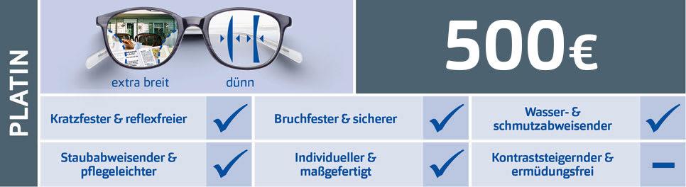 Apollo Glaspaket Platin für Gleitsichtbrillen