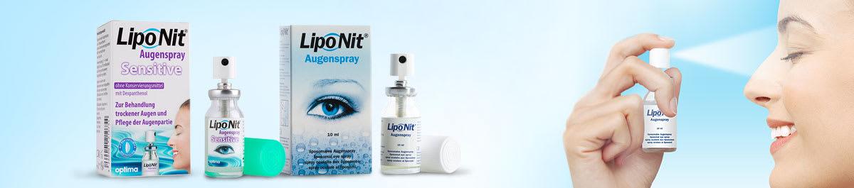 Liponit Augenspray und Augentropfen