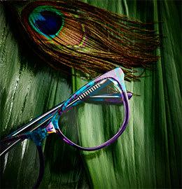 Fuzion Damenbrille in Pfauenoptik