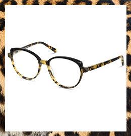 Fuzion Damenbrille im Leopardenlook