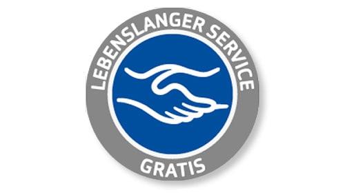 Garantie für lebenslangen Service