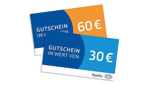 Empfehlen Sie Apollo weiter und erhalten Sie bis zu 60 € Gutschein