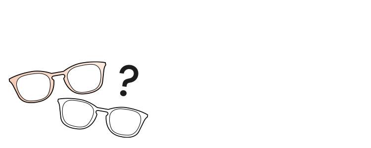 Prismen Icons Brillen Fragezeichen