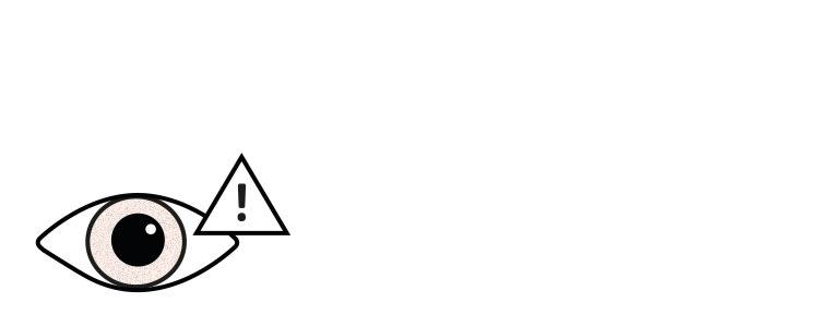 Prismen Icons Auge-Ausrufezeichen