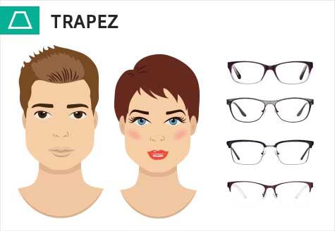 Brillen für ein trapezförmiges Gesicht