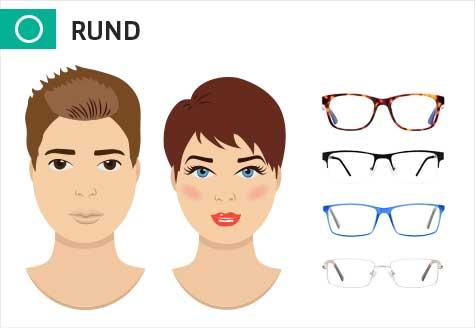 Brillen für ein rundes Gesicht