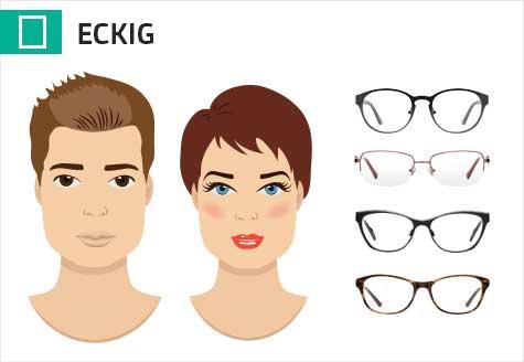 Brillen für ein eckiges Gesicht