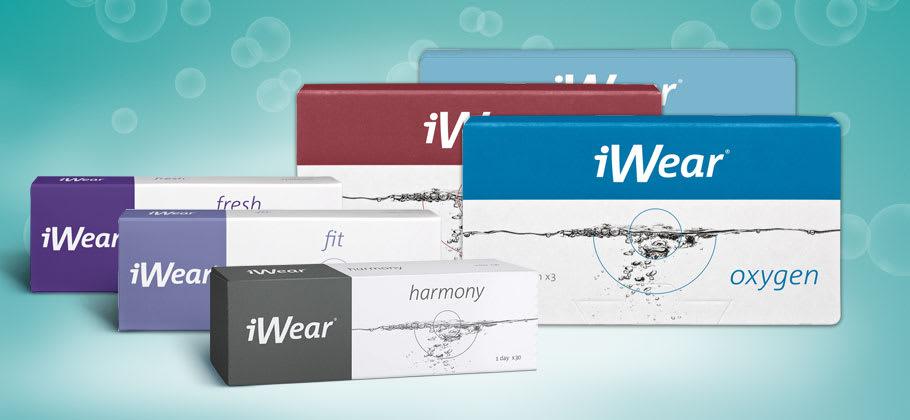 Große Auswahl an Kontaktlinsen der Marke iWear